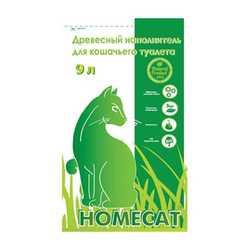HomeCat древесный впитывающий наполнитель 4 кг