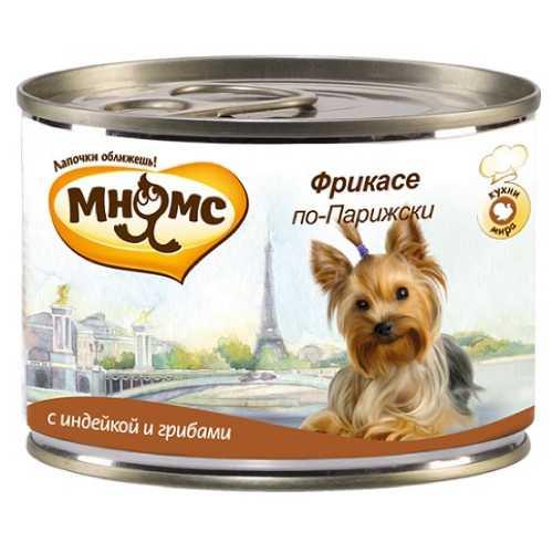Мнямс консервы для собак индейка с грибами (0,20 кг) 6 шт