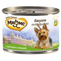 Мнямс консервы для собак кролик с овощами (0,20 кг) 6 шт
