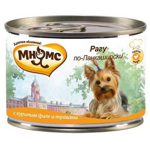 Мнямс консервы для собак курица с травами (0,20 кг) 6 шт