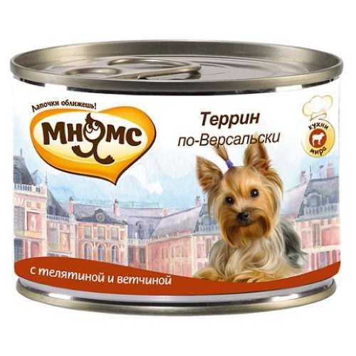 Мнямс консервы для собак телятина с ветчиной (0,20 кг) 6 шт
