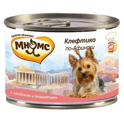 Мнямс консервы для собак ягненок с томатами (0,20 кг) 6 шт