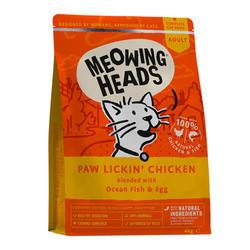 Meowing Heads корм для кошек с курицей 1,5 кг